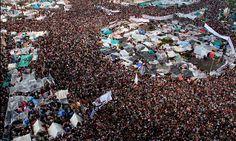 """""""Somos millones los egiptos decepcionados: Mursi vete ya"""". (Foto: AFP) #ProtestasEgipto"""