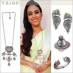 #SwaraBhaskar spotted amplifying her attire with alluring pieces from our Chandrika collection. #Tribe #TribeByAmrapali #AmrapaliJewels #Chandrika #ShopOnline