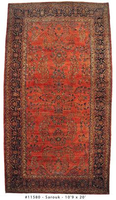 Sarouk Antique Persian Rug Number 11580, Antique Persian Rugs | Woven Accents