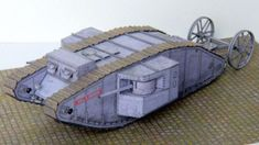 WWI HMLS Centipede Mark I Tank Mother 1:48 Scale Free Paper Model Download