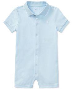 Ralph Lauren Cotton Interlock Polo Shortall, Baby Boys