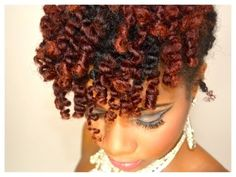 ▶ Homecoming Hair Style- Bantu Knot Out Updo Hair Tutorial - YouTube