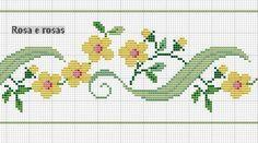 cross stitch flower border
