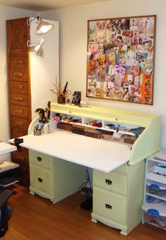 Wonderful desk craft area by Liesel Lund