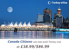 #turkeyevisa Visa fees for #Canada £58.99/$86.99 includes evisa-turkey-tr.org's service charge of 18 pounds + #government fees.