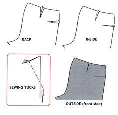 Sewing tucks
