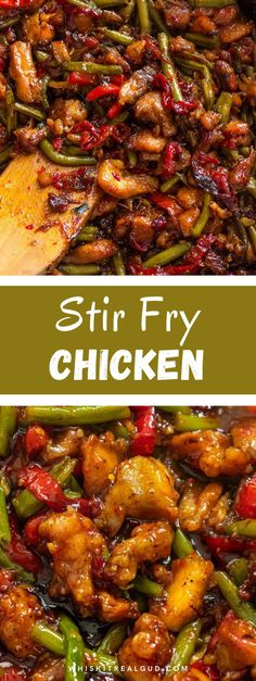 The best ever chicken green bean stir fry is absolutely mouth-watering. It's beyond delicious. Juicy pieces of crispy chicken and green bean is covered in a sweet chili sauce. If you want to learn how to make this sweet chili chicken keep reading. Hopefully, it will become your family's favorite. If you like this recipe check out this 15 min sweet chili ground beef recipe. #chicken #stirfrychicken #chickenrecipe #whiskitrealgud @whiskitrealgud | whiskitrealgud.com
