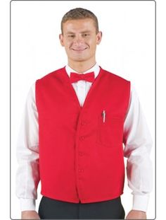 Unisex Vest, available in 7 colors. Features a chest pocket with pencil divide. Sizes: S to 3XL.