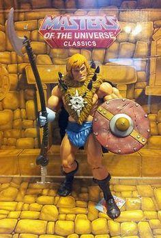 MOTUC Custom Savage Age He Man Masters of The Universe Classics w Bonus Weapons | eBay