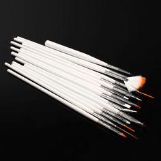 15Pcs/Set Natural/False/3D Professional Nail Art Tips Design Nail Painting Brush Dot Draw Pen Set Nail Decoration Kits