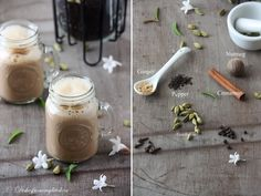 Chai with tea powder Ginger And Cinnamon, Fresh Ginger, Non Alcoholic Drinks, Beverages, Kerala Food, Masala Chai, Tea Powder, Cardamom Powder, Cinnamon Powder