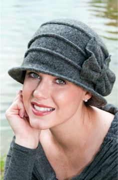 Browse our large collection of soft chemo hats and caps. Our stylish hats for chemo patients are comfortable, flattering and beautiful! Wool Felt Fabric, Hats For Cancer Patients, Types Of Hats, Stylish Hats, Kentucky Derby Hats, Mode Chic, Winter Hats For Women, Women Hats, News Boy Hat