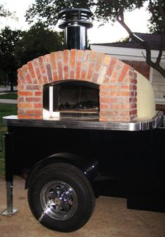 Crusty's Wood Fired Pizza. Hurray! Lubbock is starting to get food trucks, and this one is a portable wood-fired pizza oven!