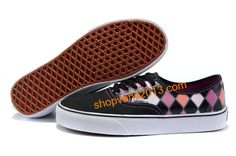 Vans Classics Checkerboard Authentic Black White Pink