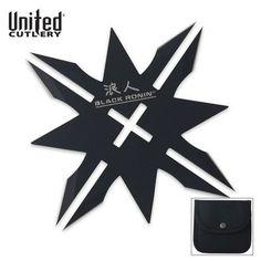 United Black Ronin Twelve Point Throwing Star $4.98 with belt & sheath