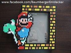 Super Mario Bilderrahmen aus Bügelperlen perler beads by Baumberger Entdecker