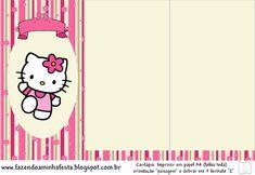 Hello Kitty - Kit Completo com molduras para convites, rótulos para guloseimas, lembrancinhas e imagens!
