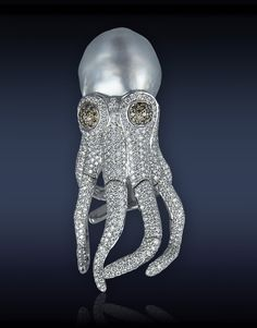 Pearl Octopus Ring