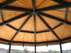 Octagon Steel Frame Shelter Manufacturer | RCP Shelters Engineered Wood, Steel Frame, Gazebo, New Homes, Shelters, House, Image, Home, Deck Gazebo