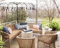 Gray Malin styles his Michigan patio with Frontgate's Liselle Collection.