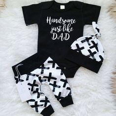 NEWEST Newborn Baby Boys Cotton Top Romper Pants Leggings Outfits Clothes baby boy clothesbaby boy clothes Newborn Boy Clothes, Newborn Outfits, Cute Baby Clothes, Baby Boy Newborn, Dad Baby, Clothes Uk, Cute Baby Boy Outfits, New Born Outfits Boy, Fashion Clothes