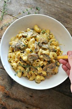 Vegan Mushroom Stroganoff Mac and Cheese - Rabbit and Wolves