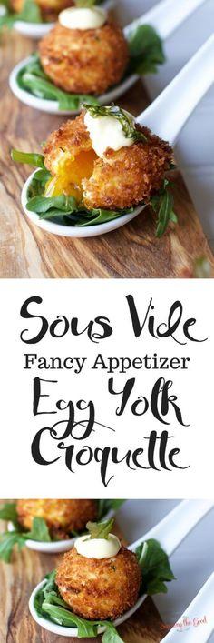 Sous Vide Egg Yolk Croquette
