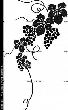 Coloriage à imprimer : Nature - Fruits - Raisin numéro 24390