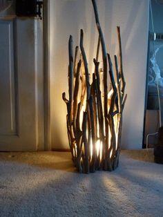 Treibholz Lampe Lagerfeuer von stockwerk-shop auf DaWanda.com …
