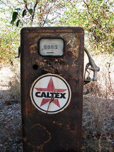 Vintage Rusted Caltex Petrol Pump Digital Photograph JPG Download on Etsy, $3.50
