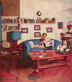 1956 mid century modern living room #retrohome #retrorenovation #retrofurniture http://www.retrorealtygroup.com