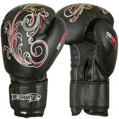 Ladies Pink Gel Boxing Gloves Bag Womens Gym Kick Pads MMA Mitts Muay Thai F