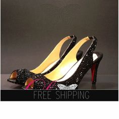 1. Top quality crystals, image-Black2. Fine genuine leather handmade shoes3. Total of 3,700 4mm crystals hand applied.4. 100% handmade, breathtaking quality!5. Narrow-Me fit, for wide fit, please up size6. 22 DAYS PROCESSING + shipping time