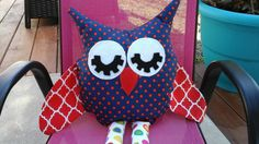 owl  pillow nursery decoration room by STITCHANDSEWBYSANDI on Etsy