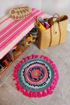 Poppytalk - DIY woven circle mat