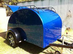 old teardrop trailers   vintage-retro-lightweight-promotional-cargo-teardrop-camper-trailer ...