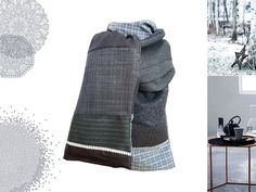 Foulard pour homme création unique fait main : Echarpes par lefil