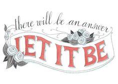 "Let it Be - Inspirational Art Print (5 x 7""). $16.50, via Etsy."