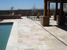 Paradise Valley travertine paver installation has become very popular! Got a pool? Check out some advantages of installing a travertine paver pool deck! Pool Coping, Pool Pavers, Backyard Landscaping, Pool Tiles, Landscaping Ideas, Travertine Pavers, Pool Remodel, My Pool, Pool Decks