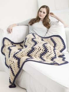Image of Quick Lacy Ripple Afghan