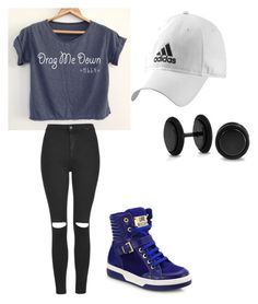 """"""""""" by zemkool ❤ liked on Polyvore featuring Topshop, Love Moschino, adidas and Bling Jewelry"""