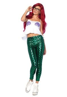 This Women's Hipster Mermaid Costume is perfect for establishing that you liked mermaids before they were cool.