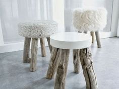 Modern Log Furniture Adding Chic Eco Friendly Products to Interior Design and Decor – diy Interior design Concrete Stool, Concrete Furniture, Log Furniture, Modern Furniture, Furniture Design, Furniture Ideas, Antique Furniture, Wood Stool, Outdoor Furniture