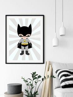 Batman print Superhero print superhero poster Nursery Print Batman Poster Boys Room Batman printable playroom decor batman toddler - Batman Printables - Ideas of Batman Printables #batman #printables #batmanprint - Batman Poster, Superhero Poster, Poster Boys, Batman Boys Room, International Paper Sizes, Playroom Decor, New Print, Nursery Prints, Printer