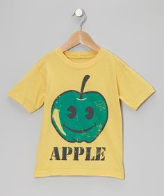 Yellow 'Apple' Tee - Toddler   Daily deals for moms, babies and kids