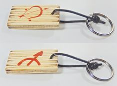 Keychain with zodiac sing and astrological symbol Sagittarius, birthday gift, keys organization, Valentine's Day, gift for him, gift for her by BurnedMatchCreations on Etsy