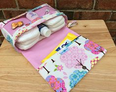 Pink diaper bag, pretty little trees girly baby bag organize-Pink diaper bag, pretty little trees girly baby bag organizer, diaper purse with clear zipper pouch, diaper clutch - Baby Girl Diaper Bags, Diaper Bag Purse, Baby Boy, Diaper Bag Organization, Baby Wipe Case, Gifts For New Parents, Baby Sewing, Baby Gifts, New Baby Products
