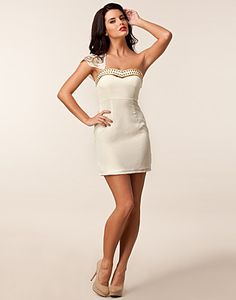Phoebe Dress - Oneness - Cream - Party dresses - Clothing - NELLY.COM UK