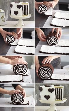How to Make Gorgeous Chocolate Stripe Cake | http://www.FabArtDIY.com LIKE Us on Facebook ==> www.facebook.com/...