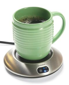 """Electric coffee warmer: """"I've had this for 12 years and it remains my favorite Christmas present ever (perfect for tea and hot chocolate, too)."""" Available for $10 to $25 at discount stores and online. Find coffee mug warmers through our affiliation with amazon.com."""